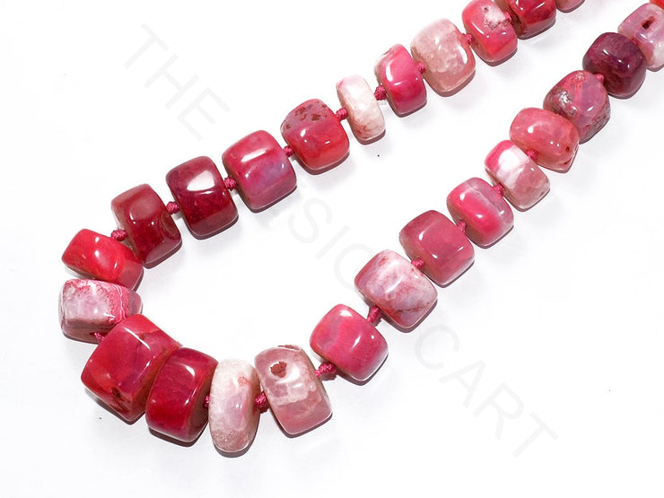 Dark Pink Uncut Agate Stones | The Design Cart (3785176547362)