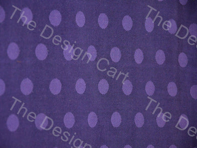Purple Polka Dots Print Mashru Silk Fabric
