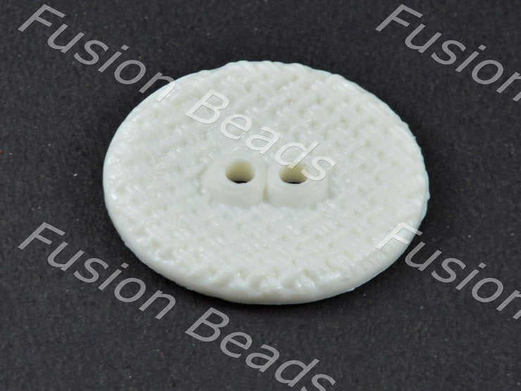 White Circular Mesh Polyster Button (376453333026)