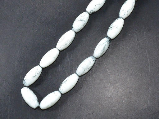 White Oval Glass Pearls
