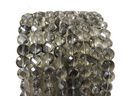 Black Transparent Faceted Crystal Beads | The Design Cart (4323288219717)