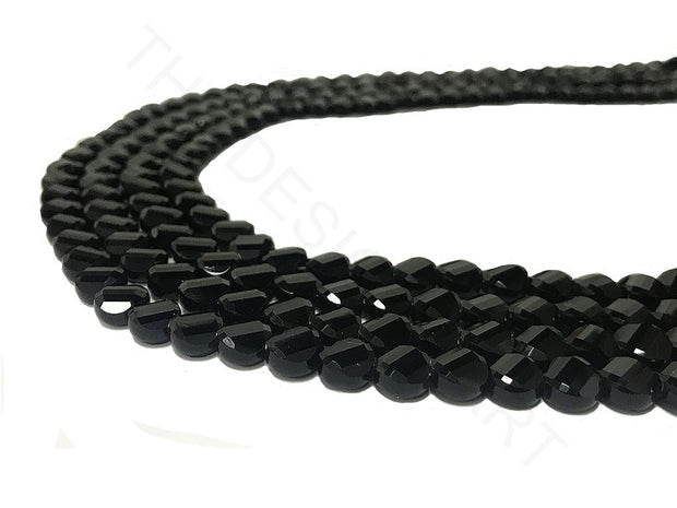 Black Opaque Faceted Crystal Beads | The Design Cart (4323288285253)
