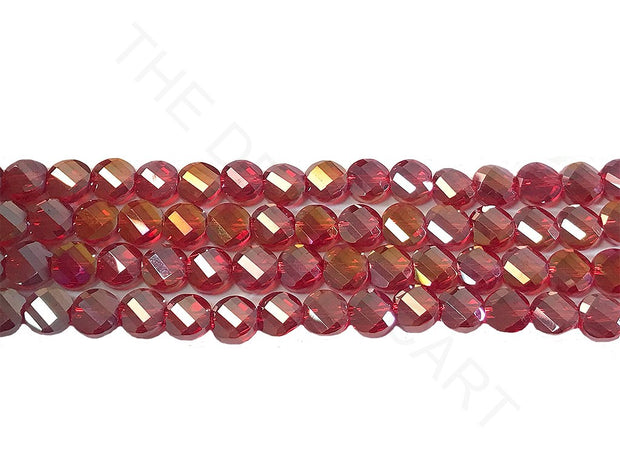 Red Rainbow Faceted Crystal Beads | The Design Cart (4323288318021)