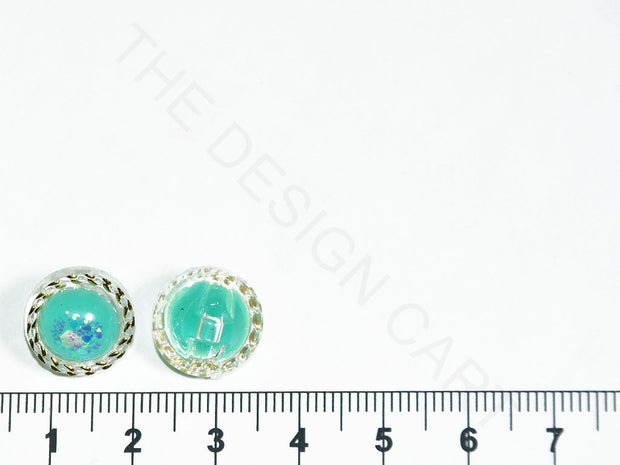 Turquoise Circular Acrylic Buttons | The Design Cart