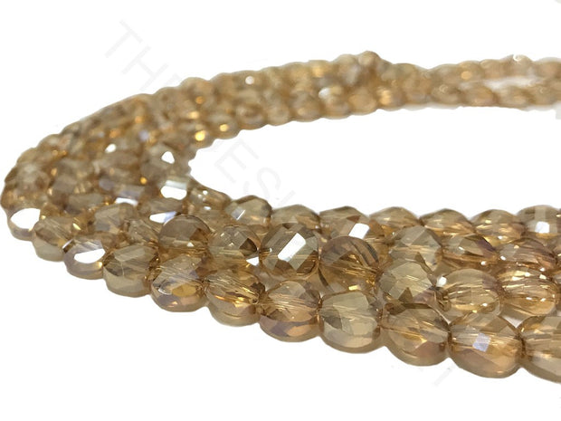 Light Brown Faceted Crystal Beads | The Design Cart (4323288383557)