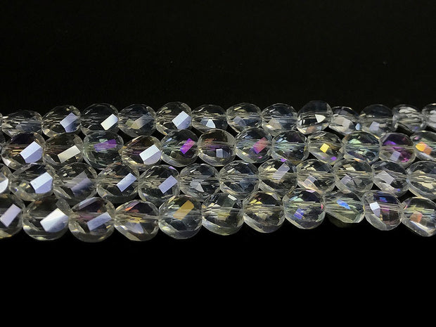 White Rainbow Faceted Crystal Beads | The Design Cart (4323288416325)