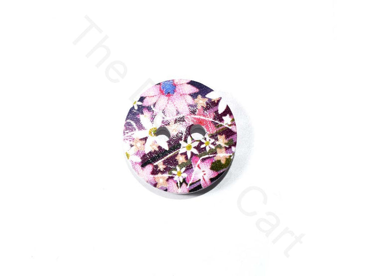 Purple Flower Design Wooden Buttons | The Design Cart (1722132168738)