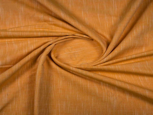 Mustard Plain Handloom Cotton Fabric