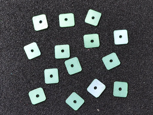 Green Square Plastic Sequins