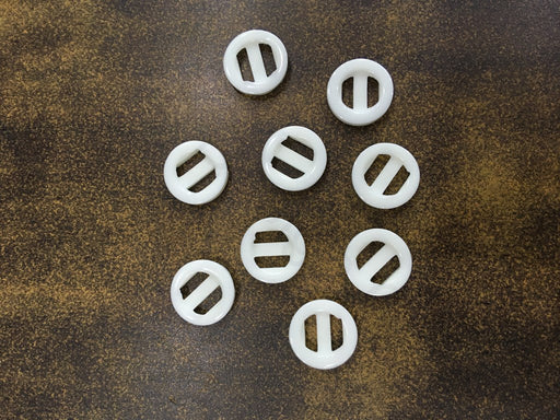 White Design 41 Polyester Shirt Buttons