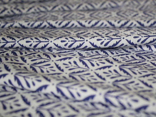 Indigo Blue Cotton Rayon Fabric