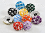 Assorted Pack of Mat Design Acrylic Buttons (376453398562)