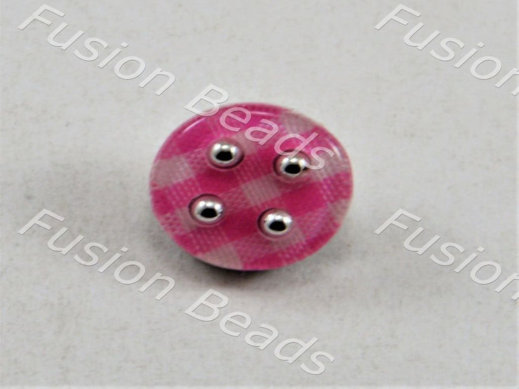 Baby Pink Mat Design Acrylic Button (376453464098)
