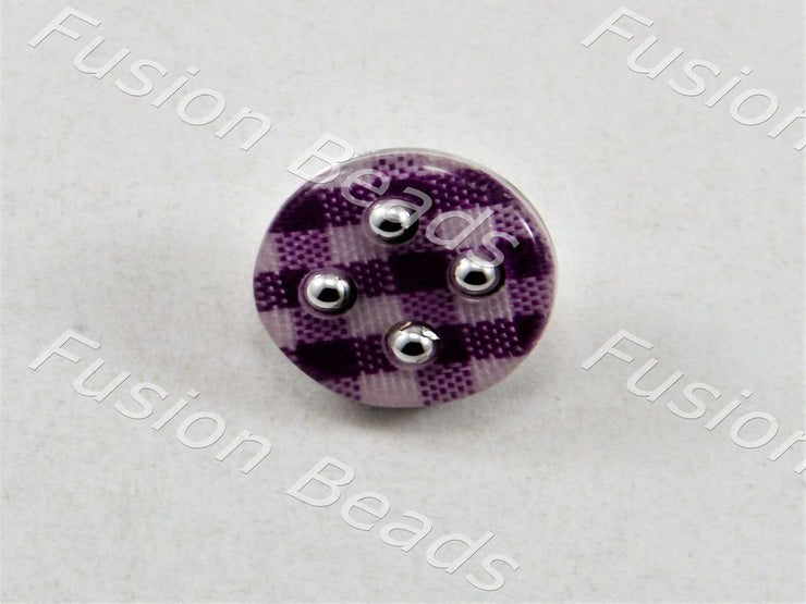 Violet Mat Design Acrylic Button (376453562402)