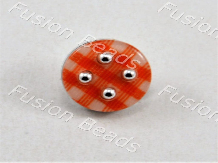 Red Mat Design Acrylic Button (376453857314)