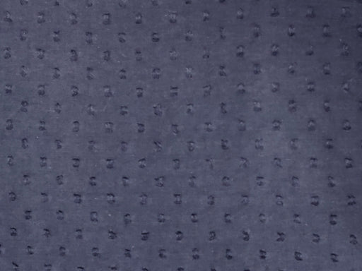 Navy Blue Cotton Dobby Embroidered Fabric