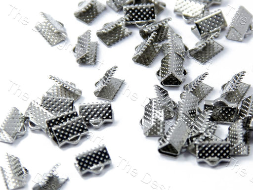 Silver Nickel Box Lock Spacer Beads