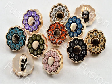Assorted Pack of Glass Stone Buttons