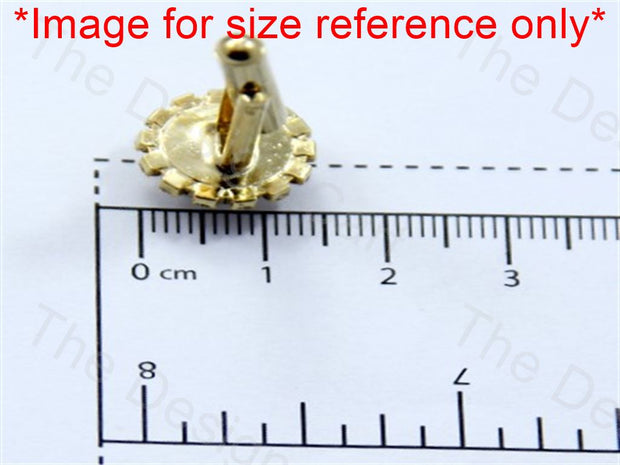 Round Sunflower Stones Design Golden Metallic Cufflinks (1364873642018)