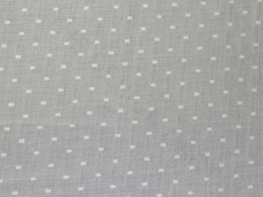 Ecru White Dobby Embroidered Cotton Fabric