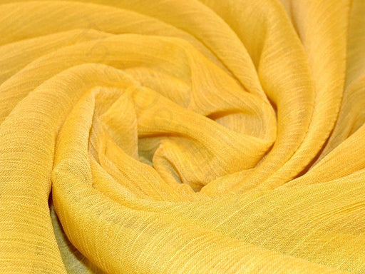 Yellow Poly Chiffon Fabric