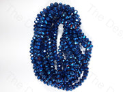 Blue Metallic Rondelle Faceted Crystal Beads | The Design Cart