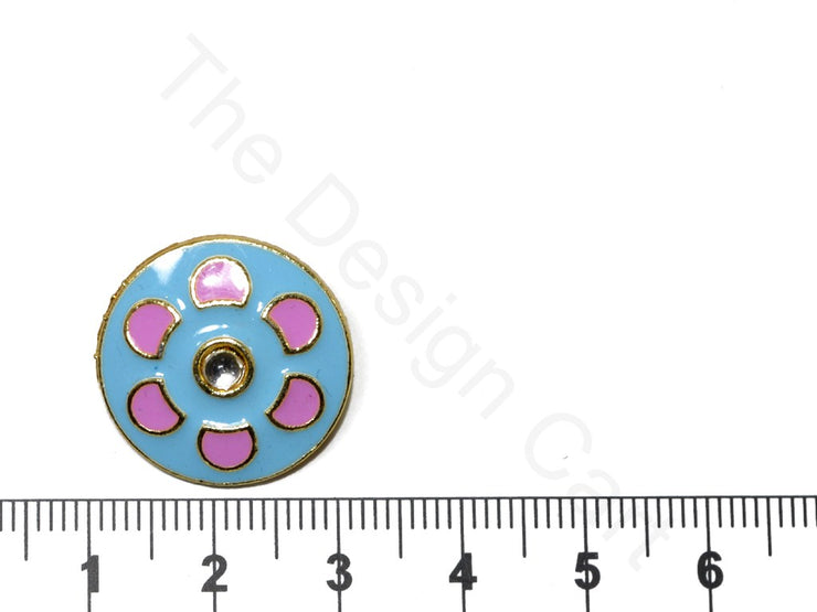 Blue Pink Design 40 Kundan Buttons | The Design Cart (1719738368034)