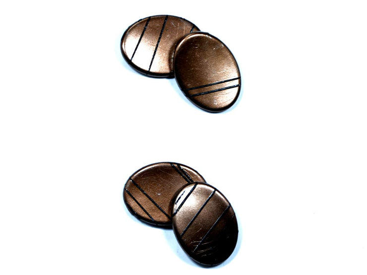Brown Oval Acrylic Stones (1729477869602)