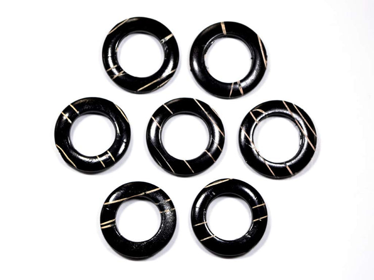 Black 2 Ring Acrylic Stones | The Design Cart (1729477804066)