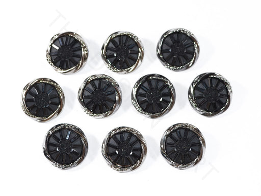 Black Geometric Acrylic Buttons