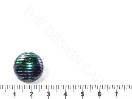 Silver Rainbow Spherical Glass Buttons