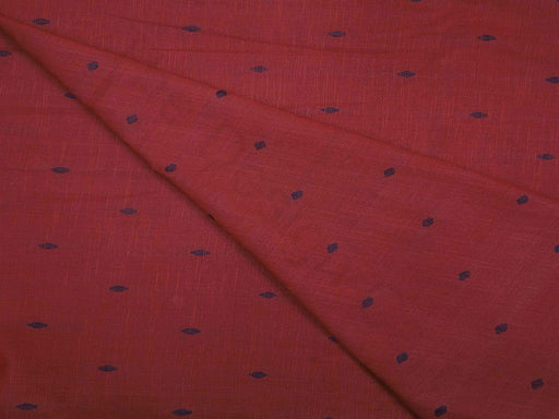 Maroon Design 16 Pre Washed Jacquard Cotton Fabric