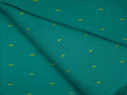 Turquoise Design 17 Pre Washed Jacquard Cotton Fabric