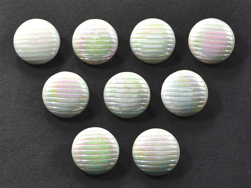 Off White Rainbow Spherical Glass Buttons
