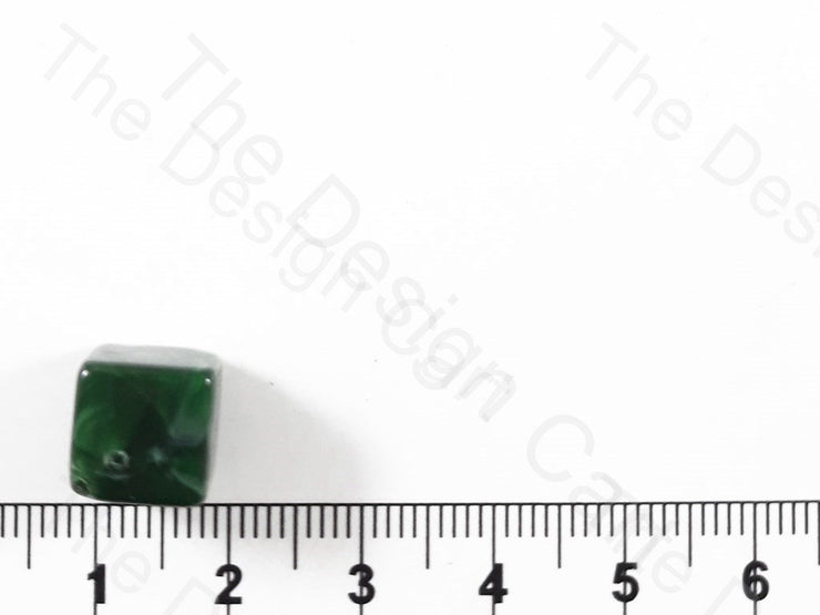 Green Cubical Resin Stones (1729478328354)
