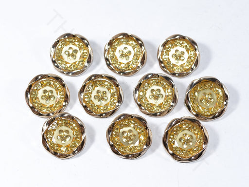 Yellow Flower Designer Acrylic Buttons
