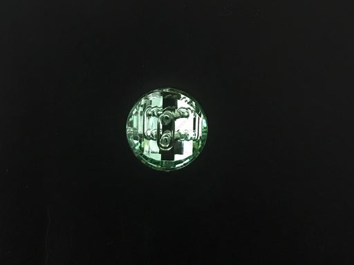 Green Transparent 2 Hole Acrylic Buttons