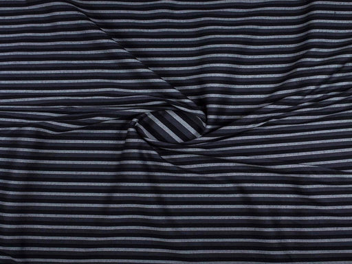Black Gray Stripes Cotton Fabric
