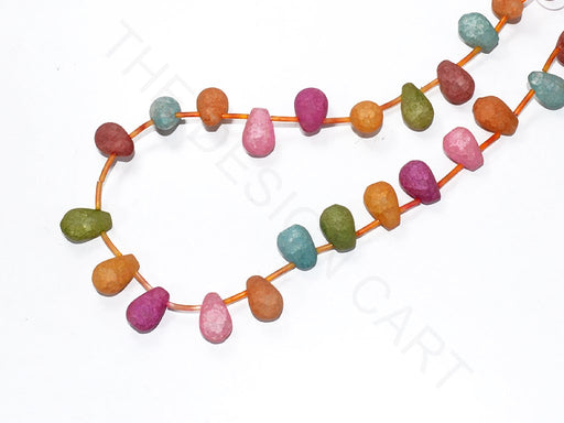 Multicolour Drop Semi Precious Quartz Stones