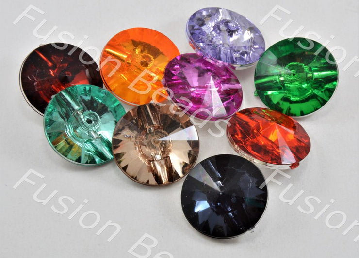 Assorted Pack of Crystal Buttons with Sun Design (370428313634)