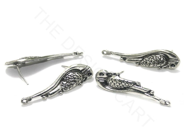 Silver Parrot German Silver Earring Components | The Design Cart