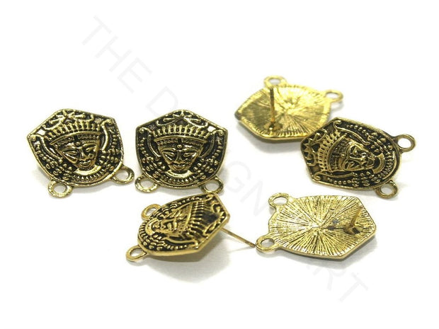 Golden Armour German Silver Earring Components | The Design Cart