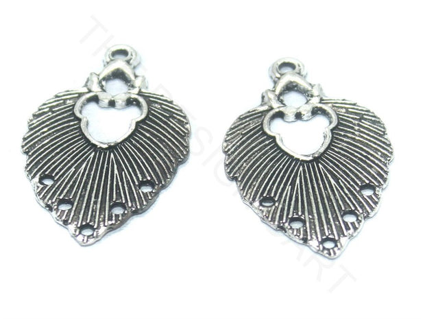 Silver Heart German Silver Earring Components | The Design Cart