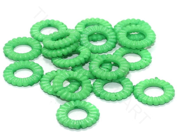 Bright Green Ring Acrylic Beads | The Design Cart