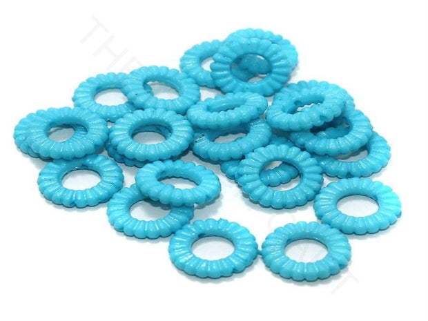 Sky Blue Ring Acrylic Beads | The Design Cart (4336240296005)