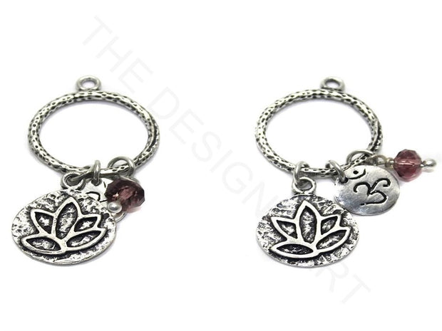 Silver Loop Charms German Silver Earring Components | The Design Cart