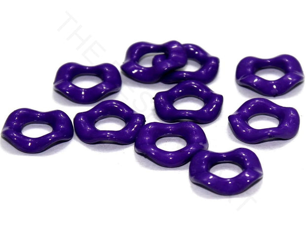 Violet Designer Ring Acrylic Beads | The Design Cart (4336240099397)
