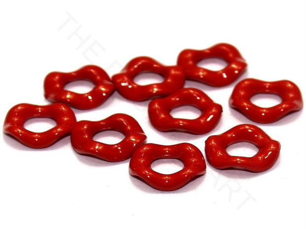 Red Designer Ring Acrylic Beads | The Design Cart (4336239771717)