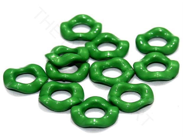Green Designer Ring Acrylic Beads | The Design Cart