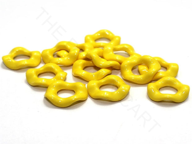Yellow Designer Ring Acrylic Beads | The Design Cart (4336239706181)